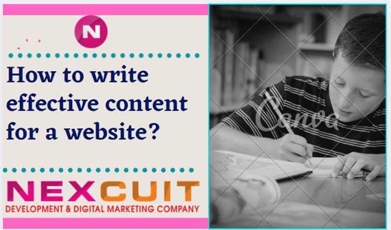 How to write effective content for a website?