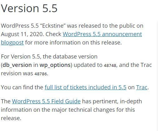 WordPress 5.5 Eckstine