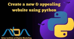 Create a new & appealing website using python programming