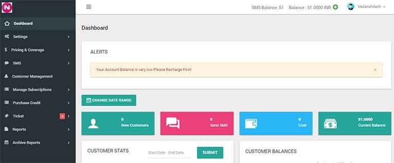 Own SMS Reseller Platform